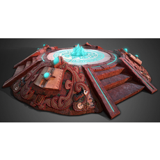 3D AZTEC PYRAMID ALTAR - Game Ready 3D Model