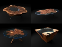 Epoxy Resin Coffee Table 3D Model