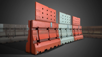 3D Construction Barricades - Game Ready 3D Model