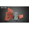 17 44 08 674 wireframe unreal unity 3d plastic construction barricade game ready 4
