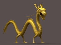 Chinese dragon 02 3D Model