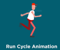 2D Run cycle Animation