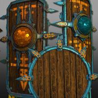 3D Aztec Warrior Shields - GAME READY 3D Model