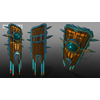 05 40 50 617 unreal unity 3d aztec warrior shields mexico game art 1 4