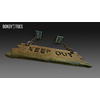 23 14 09 953 unreal unity 3d keep out handing wooden sign game art 16 4