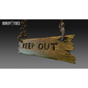 23 14 18 509 unreal unity 3d keep out handing wooden sign game art 4 4