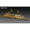 23 14 25 568 unreal unity 3d keep out handing wooden sign game art 17 4