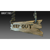 23 14 34 523 unreal unity 3d keep out handing wooden sign game art 3 4