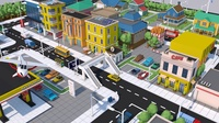 Low Poly City Town Pack 3D Model