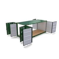 20ft Shipping Container Double Side Open 3D Model