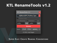 KTL RenameTools 1.2.0 for Maya (maya script)