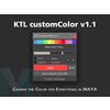KTL CustomColor 1.1.0 for Maya (maya script)
