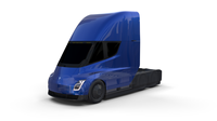 Tesla Truck with Chassis Blue 3D Model