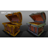 02 42 20 437 unreal unity 3d pirate skull chest game art open 1 4