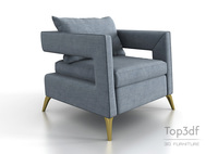 Modern fabric armchair 3D Model