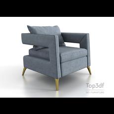 Modern fabric armchair 3D Model
