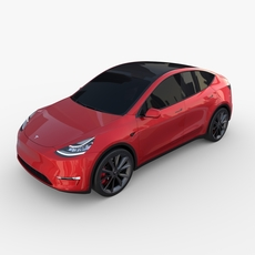 Tesla Model Y Red 3D Model
