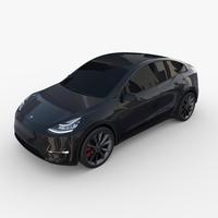 Tesla Model Y Black 3D Model