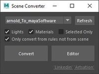 Maya Scene Converter 1.0.0 for Maya (maya script)