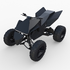 Tesla Cyberquad ATV Black 3D Model