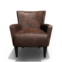 Leather Wing chair 3D Model