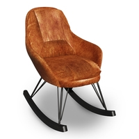 Leather Rocking Chair 3D Model