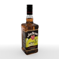 Jim Beam Apple 70cl Bottle 3D Model