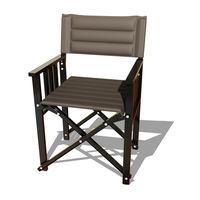 Stylish Black Metal X Chair 3D Model