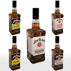 Jim Beam 70cl Bottle Set 3D Model