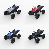 Tesla Cyberquad ATV Collection 3D Model