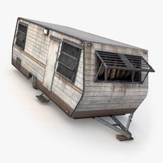 Caravan Trailer House 3D Model