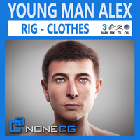 Young Man Alex 3D Model