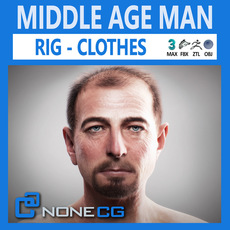 Middle Age Man Alex 3D Model