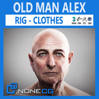 Old Man Alex 3D Model