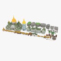 Slavs City Environments Pack 3D Model