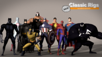 Classic Superhero Pack 1.0.0 for Maya
