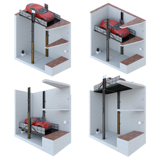 Car lift 2 3D Model