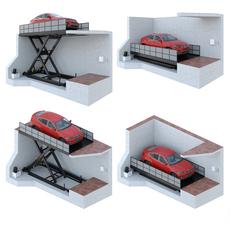 Car lift 4 3D Model
