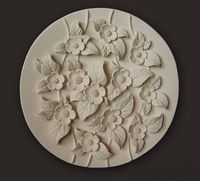 Decorative carved flower plate 3D Model