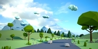 Lowpoly super pack people, trees,cars 3D Model
