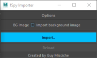 fSpy Importer 1.0.0 for Maya (maya script)