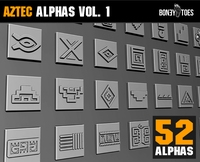 Aztec Alphas Vol 1 1.0.0 for Zbrush