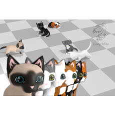 Chibi cat V2.0 3D Model
