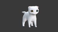 Chibi cat Scottish Fold 3D Model