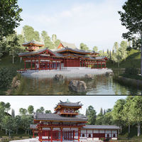 Byodo-In Japanese Temple 3D Model