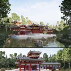 Byodo-In Japanese Temple 3D Model