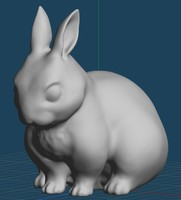 Rabbit figurines 3D Model