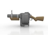 Toy Grenade Launcher 3D Model