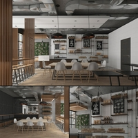 Contemporary Coffee House Cafe 3D Model