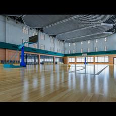 Basketball Gym 003 3D Model